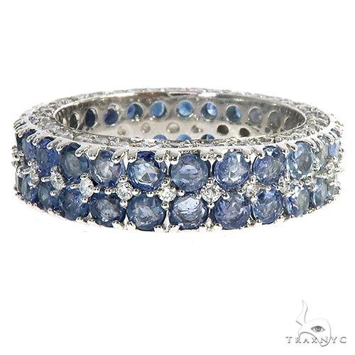 Water Sapphire Diamond Eternity Ring 66933 Multicolor SAPPHIRE