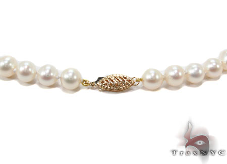 White 1 Strand Pearl Necklace 31450 Pearl