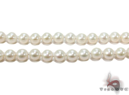 White 1 Strand Pearl Necklace 31456 Pearl