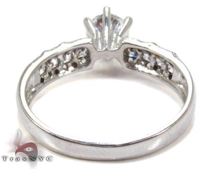 White 10K Gold CZ Ring 25272 Anniversary/Fashion