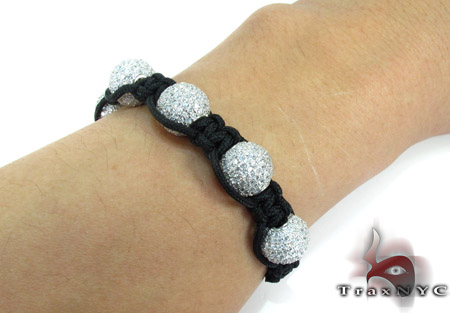 White Crystal Rope Bracelet 27740 Silver