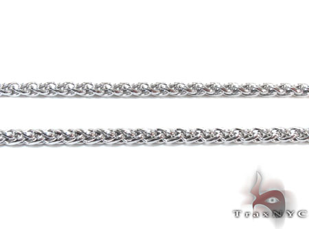 White Gold Chain 16 Inches 2mm 4.6 Grams Gold