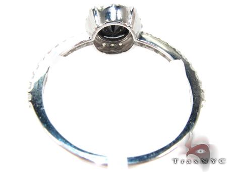 White Gold Diamond & round cut Onyx Ring Anniversary/Fashion
