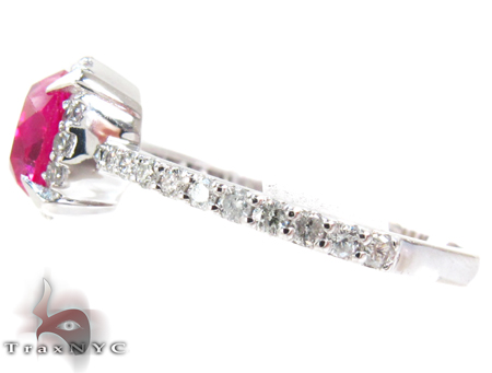 White Gold Pink Tourmaline & Diamond Ring Anniversary/Fashion
