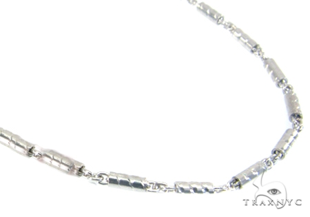 14K White Gold Hammer Chain 20 Inches 1.4mm 5.50 Grams Gold