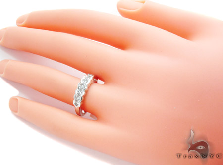 White Gold Round Cut Bezel Diamond Wedding Ring Wedding