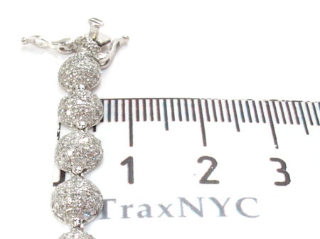 White Gold Round Cut Pave Diamond Chain 26 Inches 6mm 33 Grams Diamond