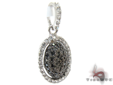 White Gold Round Cut Prong Diamond Pendant Stone