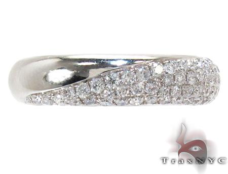 White Gold Round Cut Prong Diamond Ring Wedding
