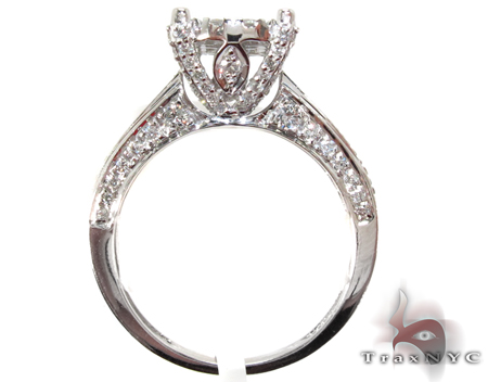 White Gold Round Cut Prong Diamond Ring Engagement