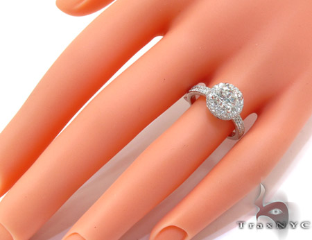 White Gold Round Cut Prong Diamond Wedding Ring Engagement