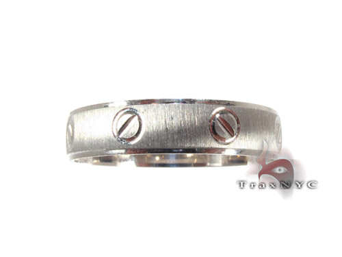 White Gold Screw Band Style