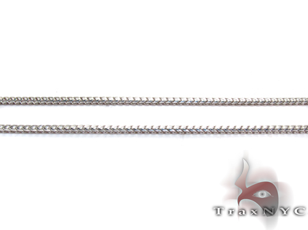 White Gold Thin Chain 20 Inches, 1mm, 4.3 Grams Gold
