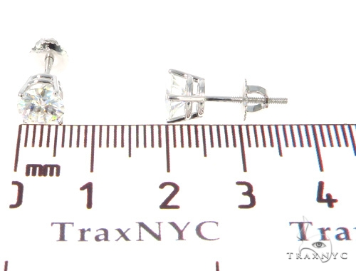 White Moissanite Stud Earrings 43234 Metal