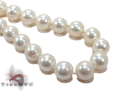 White Pearl Gold Nacklace 27610 Pearl