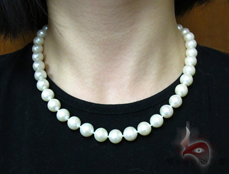 White Pearl Gold Nacklace 27630 Pearl