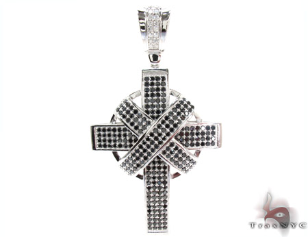 White Rhodium Silver Cross Crucifix Silver