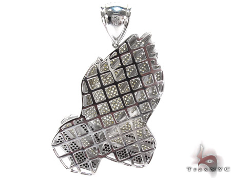 White Rhodium Silver Prayer Pendant Metal