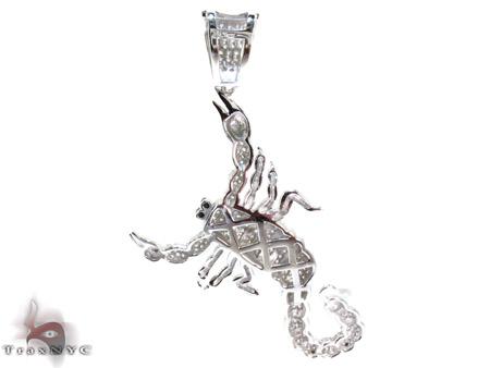 White Rhodium Silver Pendant Metal