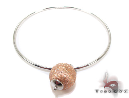 White Silver Acorn Bracelet Silver & Stainless Steel