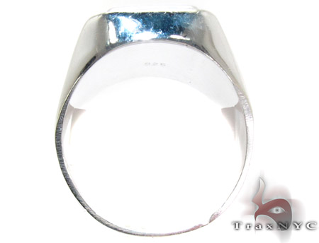 Mens Cheap Raising The Bars Silver Ring Metal