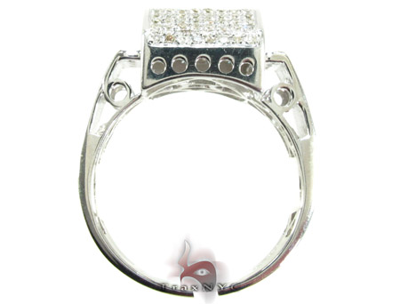 Silver Round Cut Prong Diamond Ring 25348 Metal