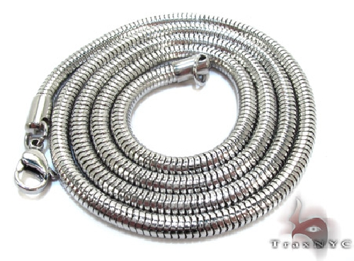 White Stainless Steel 30 Inches 3mm 19.3 Grams 56520 Stainless Steel