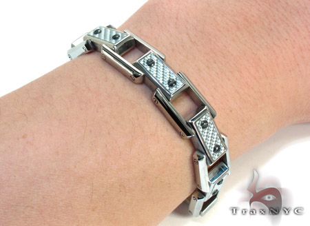 White Stainless Steel Bracelet Stainless Steel