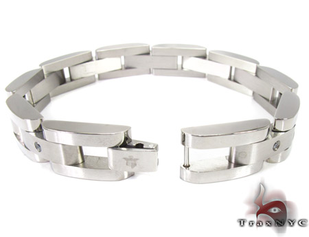 White Stainless Steel Bracelet 27746 Stainless Steel