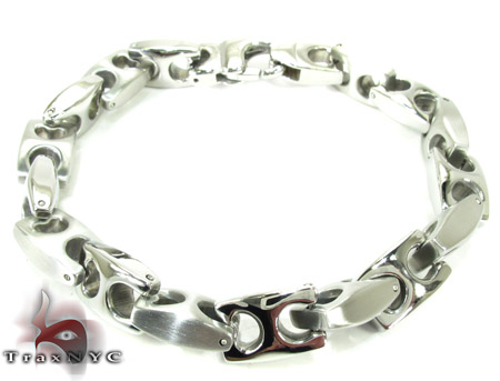 White Stainless Steel Bracelet 27750 Stainless Steel