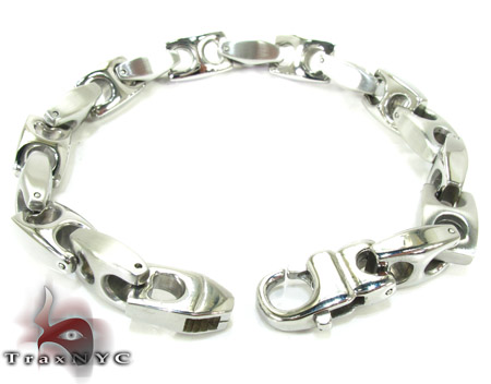White Stainless Steel Bracelet 27750 Stainless Steel
