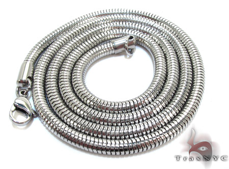 White Stainless Steel n 24 Inches 4mm 22 Grams Stainless Steel