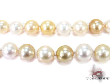 White and Golden Pearl Ladies Necklace 27171 Pearl