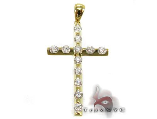 YG Unique Cross Crucifix Diamond