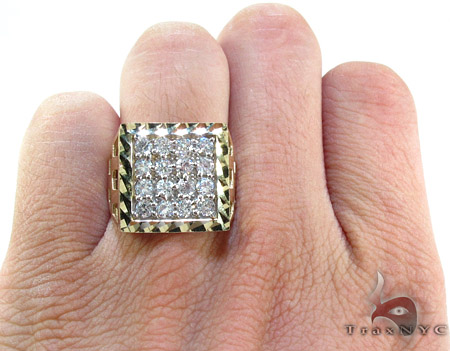 Yellow 10K Gold CZ Ring 25251 Metal