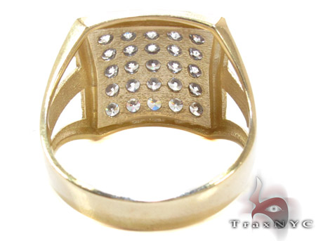 Yellow 10K Gold CZ Ring 25253 Metal