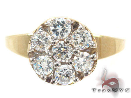 Yellow 10K Gold CZ Ring 25262 Anniversary/Fashion