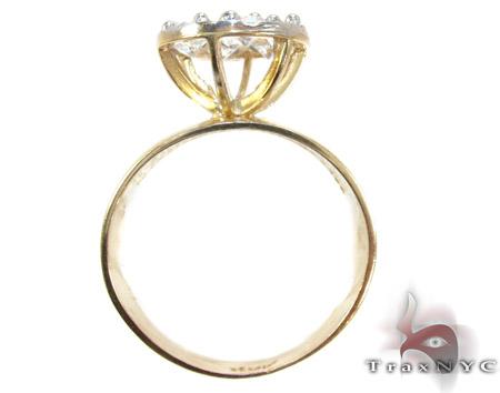 Yellow 10K Gold CZ Ring 25261 Anniversary/Fashion