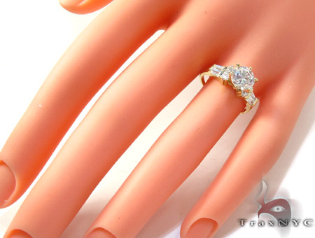 Yellow 10K Gold CZ Ring 25268 Anniversary/Fashion