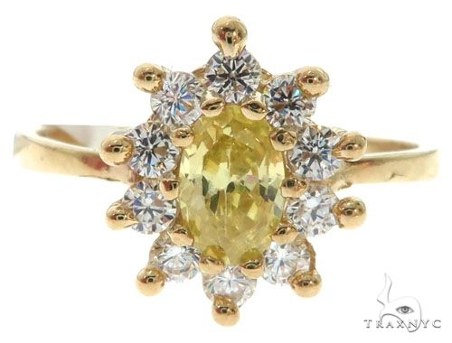 Yellow 10K Gold CZ Ring 25270 Anniversary/Fashion