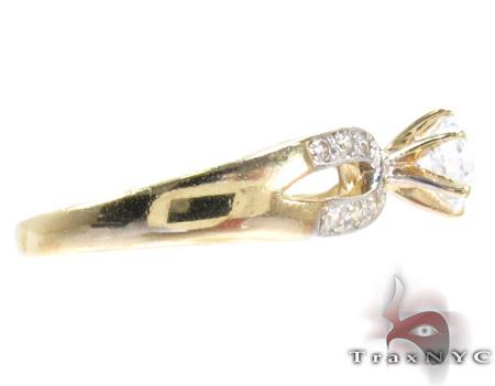 Yellow 10K Gold CZ Ring 25271 Anniversary/Fashion
