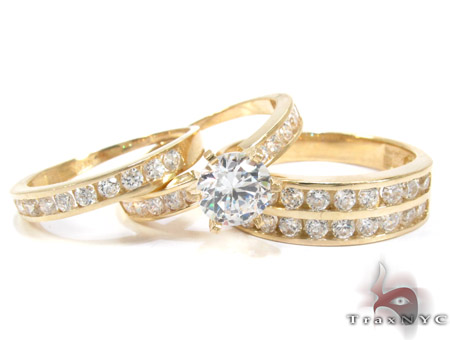10K Gold His & Her CZ Ring Set 25274 Engagement