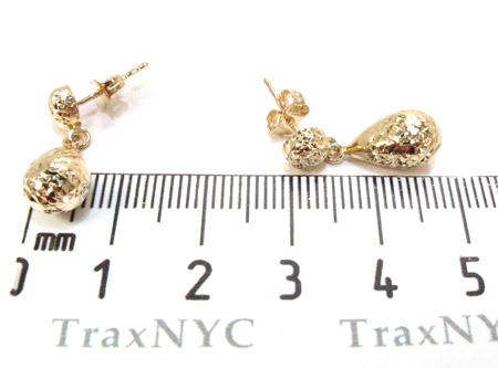 Yellow 14K Gold Chandelier Earrings Metal