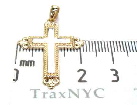 Yellow 14K Gold Cross Crucifix Gold
