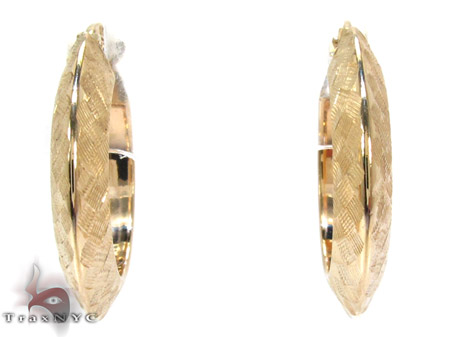 Yellow 14K Gold Hoop Earrings Metal