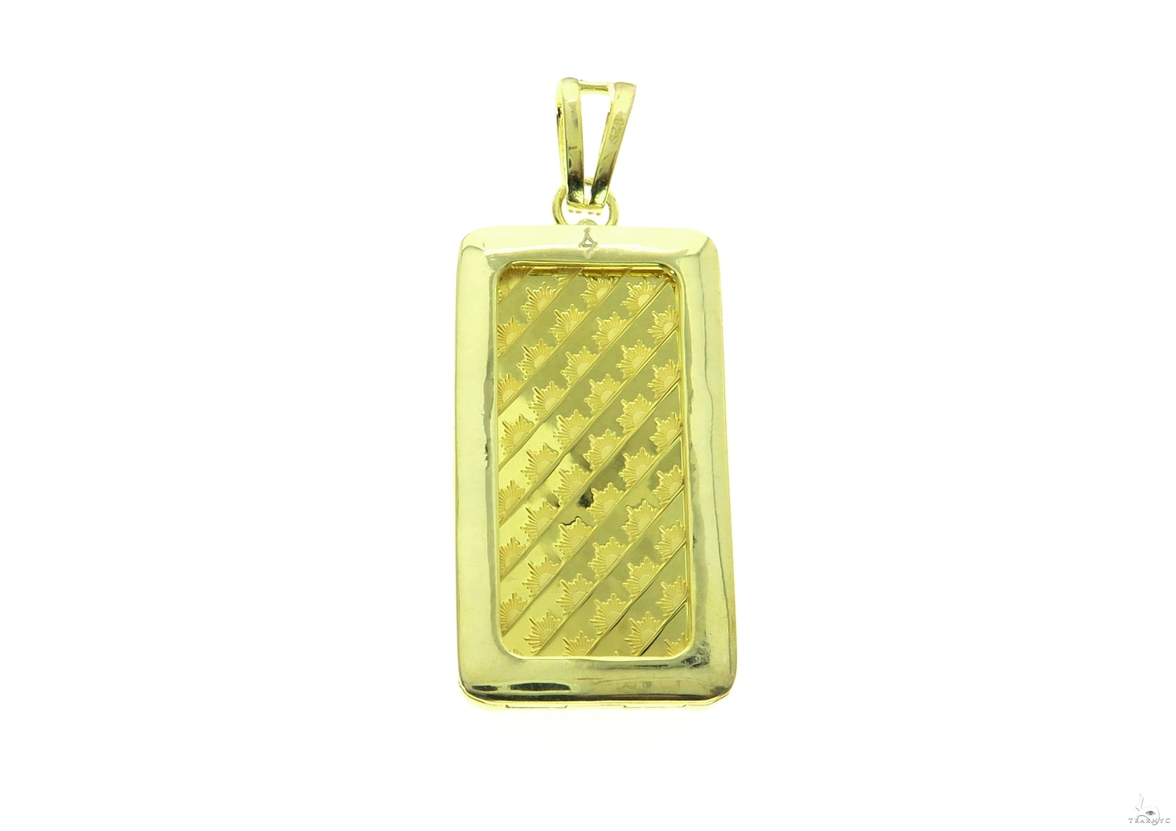 Yellow Dog Tag Pendant 63702 Metal
