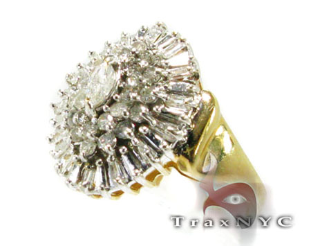 Yellow Gold Blossom Ring Anniversary/Fashion