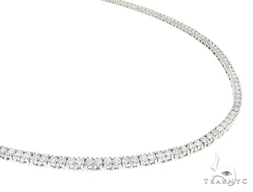 White Gold Diamond Chain 24 Inches, 3mm, 33.70 Grams Diamond