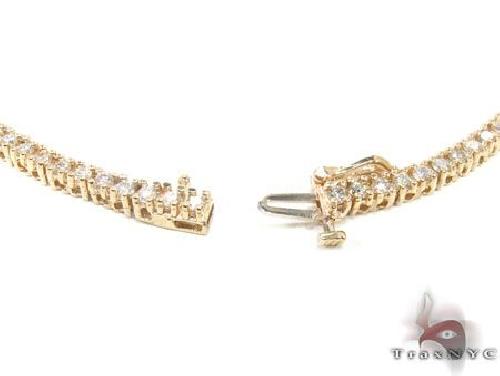 Yellow Gold Diamond Chain 28 Inches, 3mm, 39.5 Grams Diamond