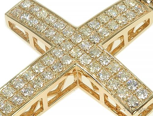 Yellow Gold Diamond Cross 66176 Diamond